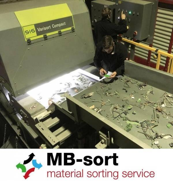 MB-Sort – Contract Recycling of Metal Waste and Plastics with Sesotec VARISORT COMPACT Sorting System
