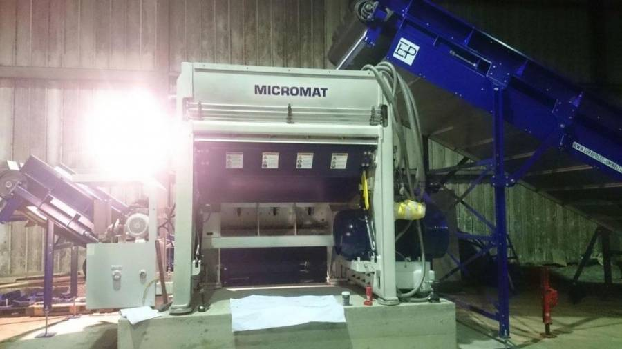 Micromat Bale Opener Increases Film Quality at Veolia