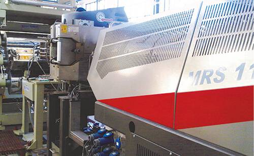 PET Sheet Lines: Fit for recycled material thanks to retrofitted line Key components and know-how for plant optimisation in sheet extrusion