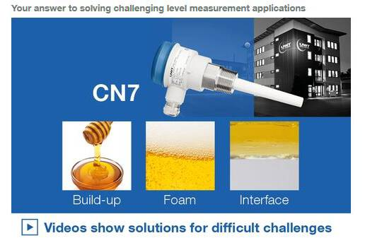 Your answer to solving challenging level measurement applications More information about our capacitive Solution Capanivo® CN 7