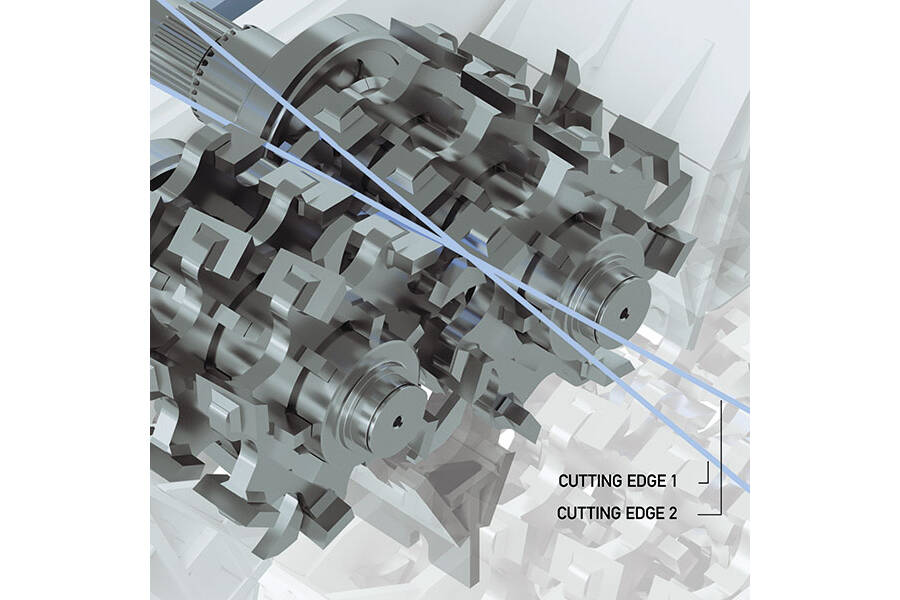 Lindner's Patented Twin-Shaft Cutting System  Precision with Maximum Efficiency